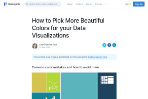 "Screenshot of ""How to Pick More Beautiful Colors for your Data Visualizations"""