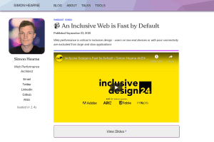 screenshot of An Inclusive Web is Fast by Default