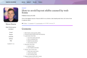 screenshot of How to avoid layout shifts caused by web fonts