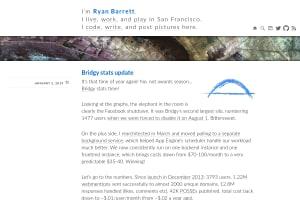 "Screenshot of ""Bridgy stats update"""