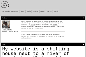 """Screenshot of """"My website is a shifting house next to a river of knowledge. What could yours be?"""""""