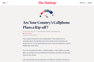 """Screenshot of """"Are Your Country's Cellphone Plans a Rip-off?"""""""