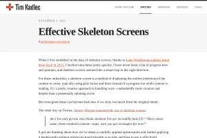 screenshot of Effective Skeleton Screens