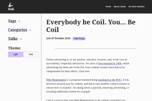 screenshot of Everybody be Coil. You… Be Coil