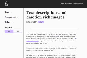 "Screenshot of ""Text descriptions and emotion rich images"""