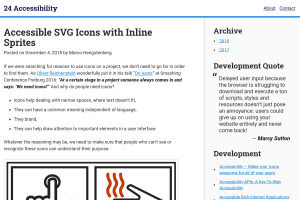 "Screenshot of ""Accessible SVG Icons with Inline Sprites"""