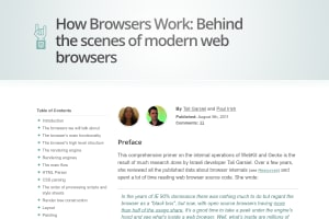 screenshot of How Browsers Work: Behind the scenes of modern web browsers