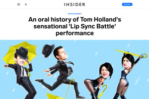 screenshot of An oral history of Tom Holland's sensational 'Lip Sync Battle' performance