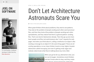 screenshot of Don't Let Architecture Astronauts Scare You