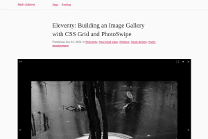 screenshot of Eleventy: Building an Image Gallery with CSS Grid and PhotoSwipe