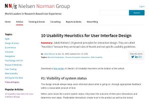 "Screenshot of ""10 Usability Heuristics for User Interface Design"""