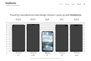"""Screenshot of """"OneDevice, a smartphone that makes sense"""""""