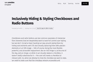 "Screenshot of ""Inclusively Hiding & Styling Checkboxes and Radio Buttons"""