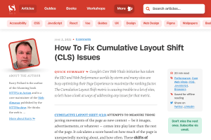 screenshot of How To Fix Cumulative Layout Shift (CLS) Issues