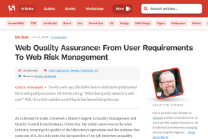 screenshot of Web Quality Assurance: From User Requirements To Web Risk Management