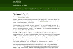 screenshot of Technical credit