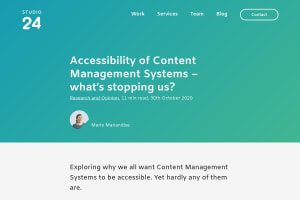 screenshot of Accessibility of Content Management Systems – what's stopping us?