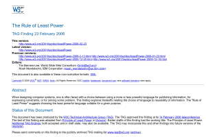 "Screenshot of ""The Rule of Least Power"""