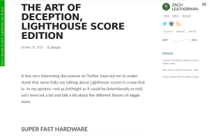 screenshot of The Art of Deception, Lighthouse Score Edition