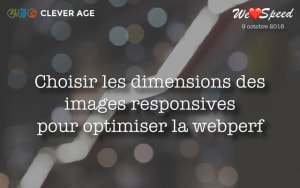 "Cover slide from the talk ""Optimiser la performance par un choix optimal des dimensions des images responsives"""