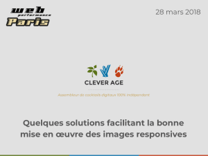 "Cover slide from the talk ""Quelques solutions facilitant la bonne mise en œuvre des images responsives"""