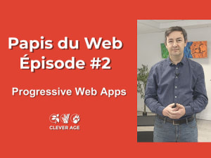 "Cover slide from the talk ""Les Progressive Web Apps (PWA)"""