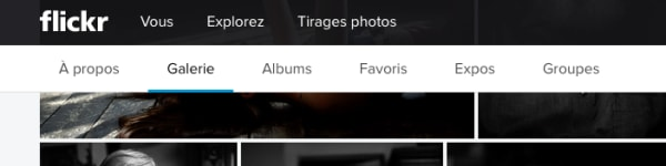 Flickr UI in French