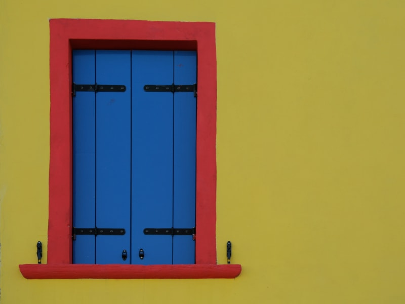 A colorful picture of a window