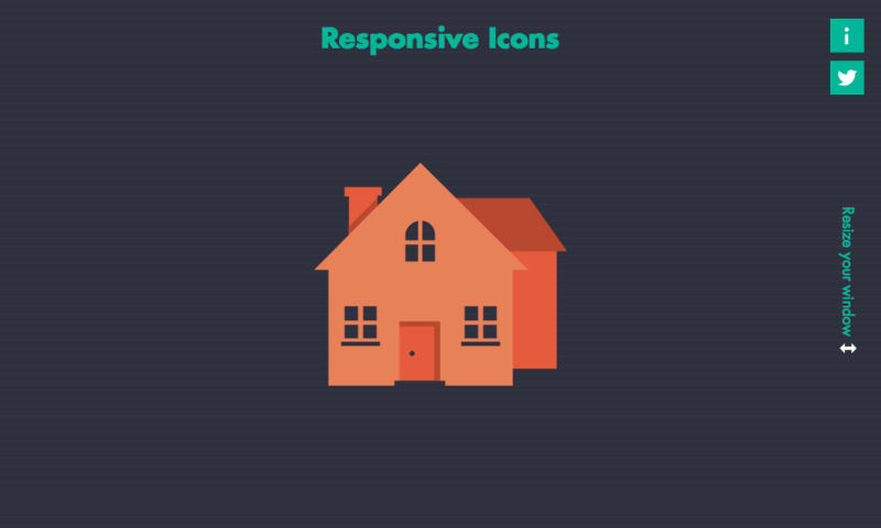 A screenshot of the Responsive Icons site