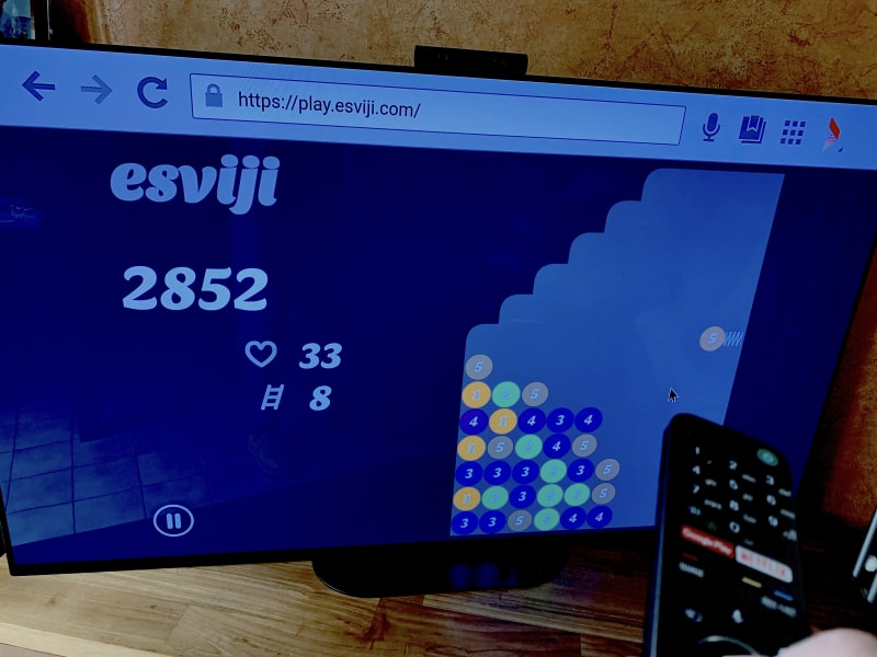 esviji played on an Android TV