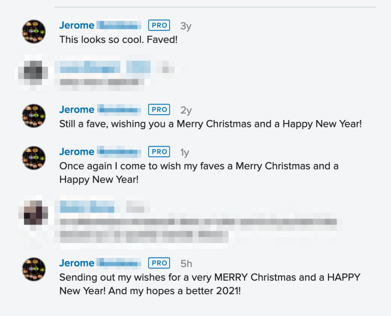 This Jerome comments the same photo every year…