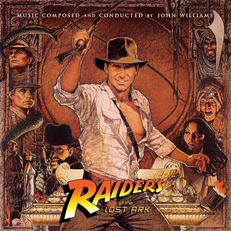 The cover of the amazing Raiders of the Lost Ark soundtrack by John Williams