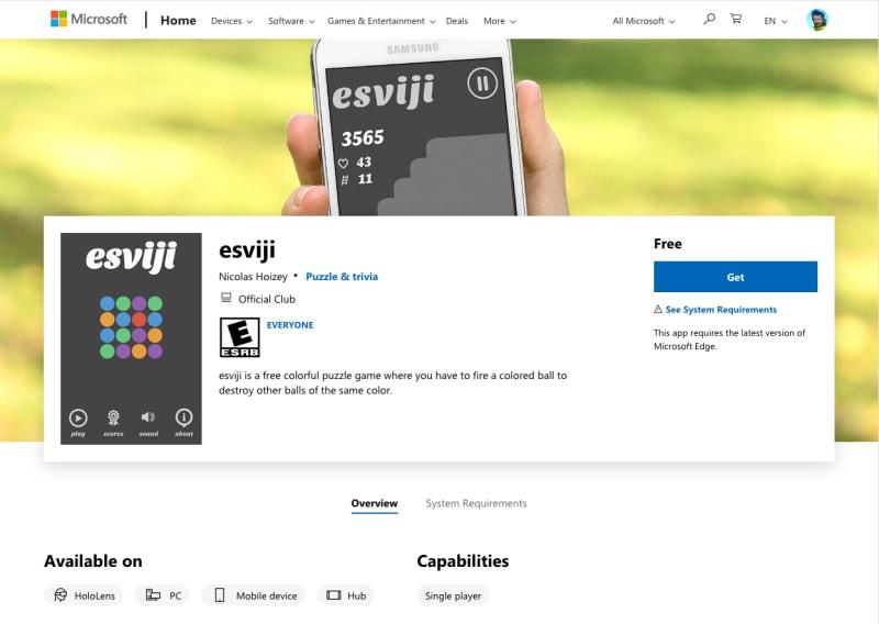 esviji in the Windows Store