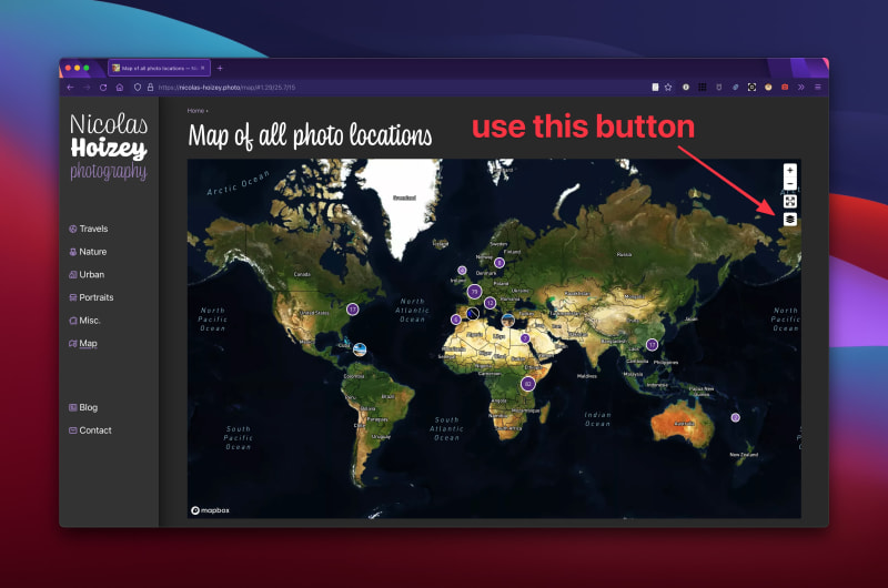 """Mapbox with the """"satellite"""" style"""