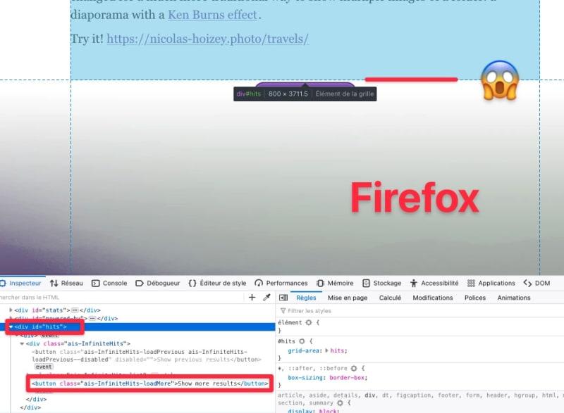 Rendering issue in Firefox