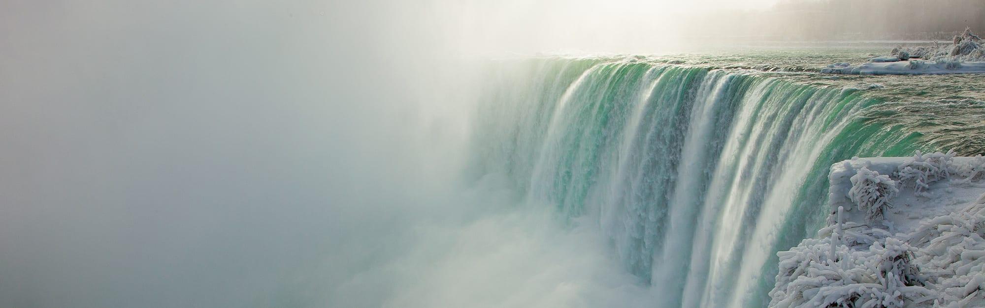 Niagara Falls on a wintry day