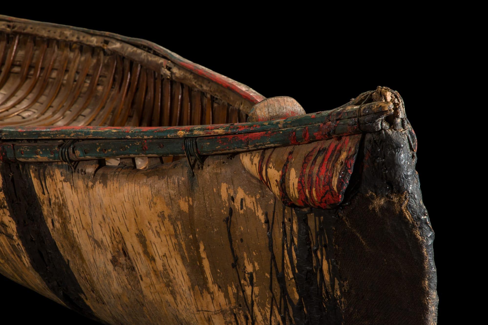 Birchbark Canoe front nose