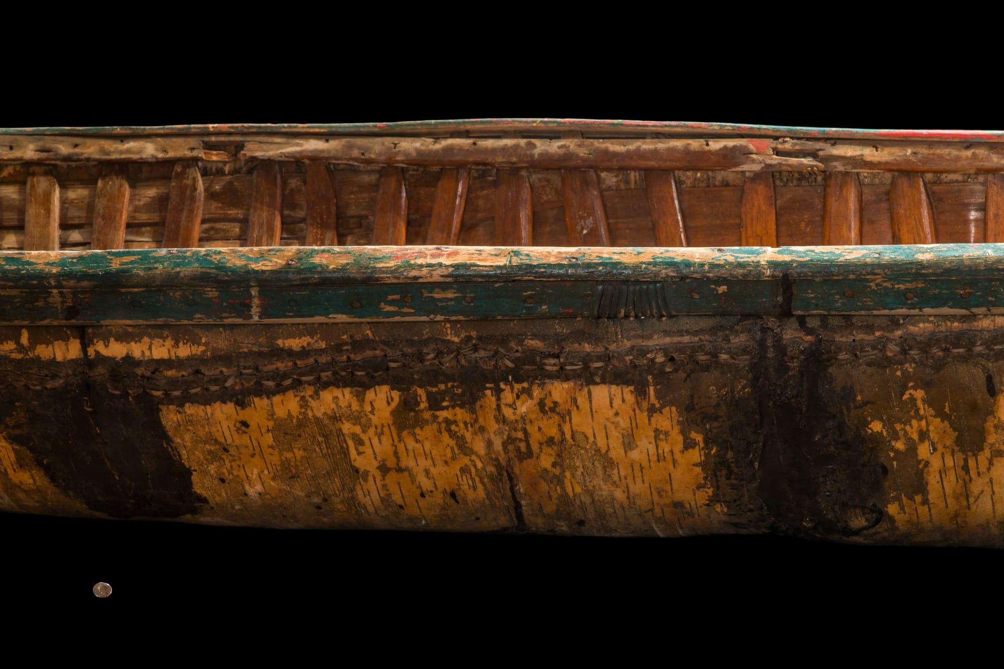 Birchbark Canoe side - up close