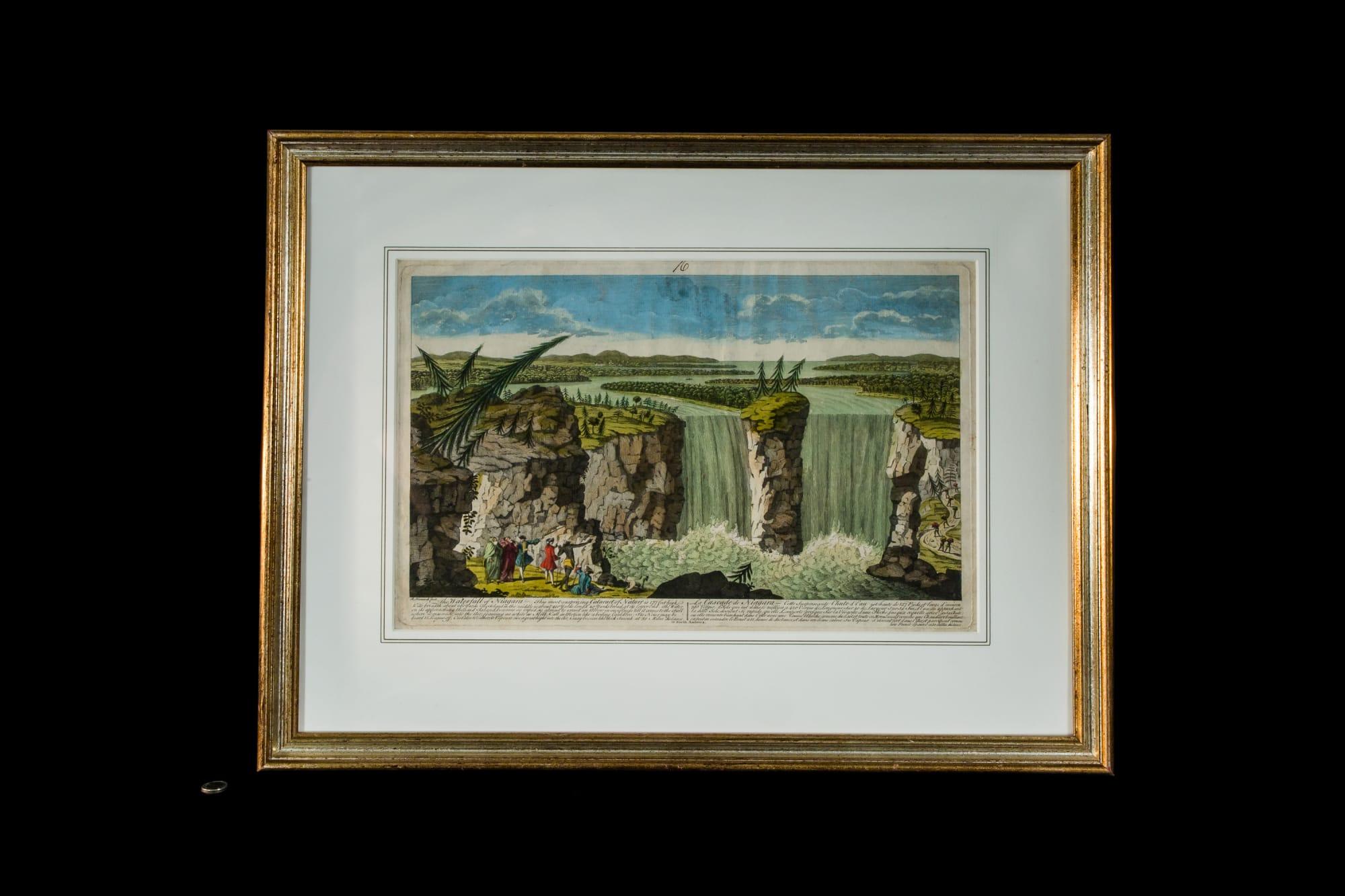Niagara Falls print in a frame