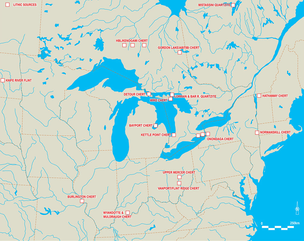 Eastern North America for OAS lithic