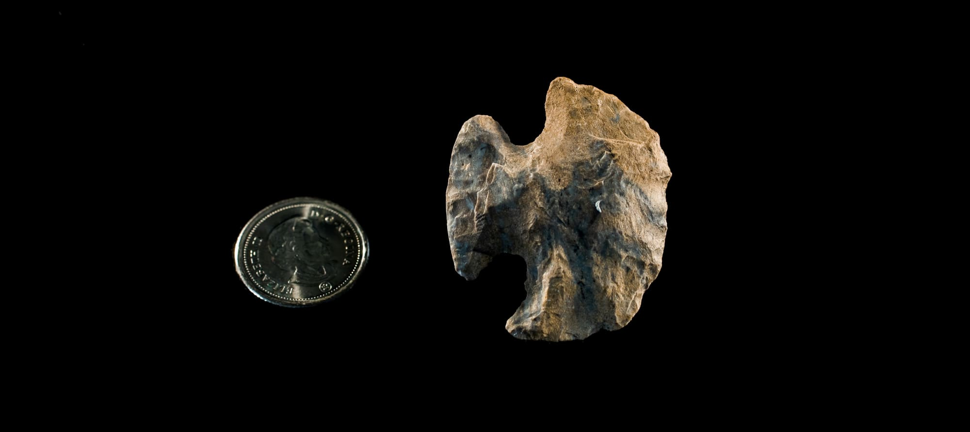 Re-worked stone tools