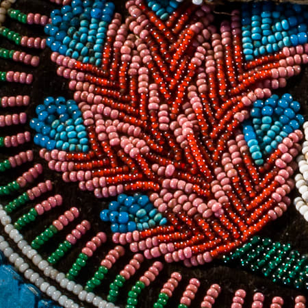 Portion of a Beaded Purse