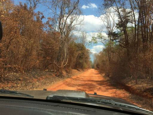 a red dirt road