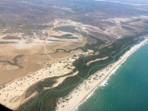 Coastal Morondava mangroves from above