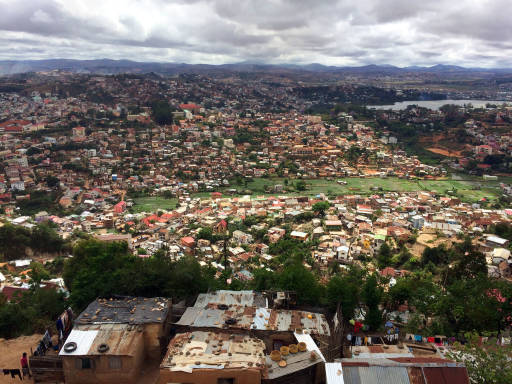 A view of Antananarivo from the Queen's Palace.