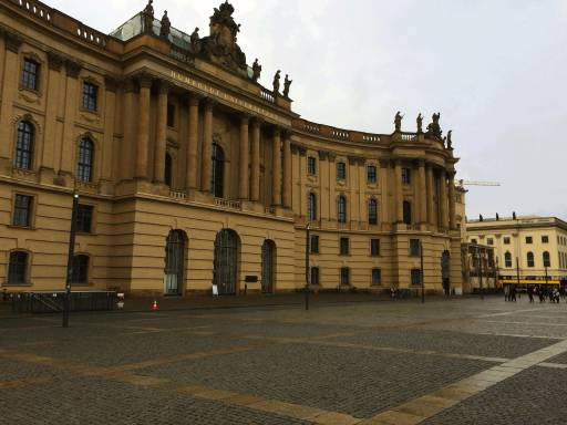 Humboldt University Library where book burnings took place.