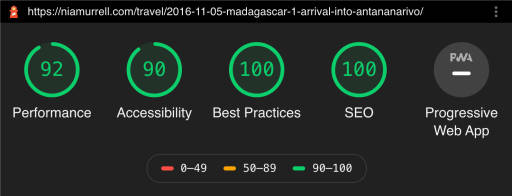 SCORES performance 92, accessibility 90, best practices 100, SEO 100