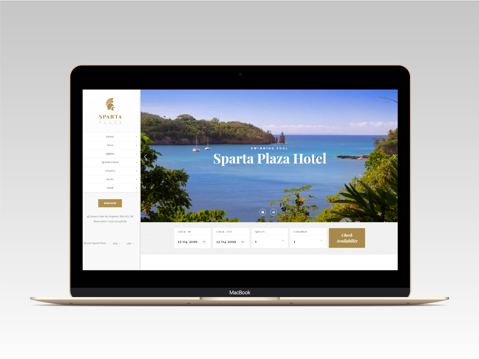 Sparta   Hotel & Resort HTML5 Template - 9