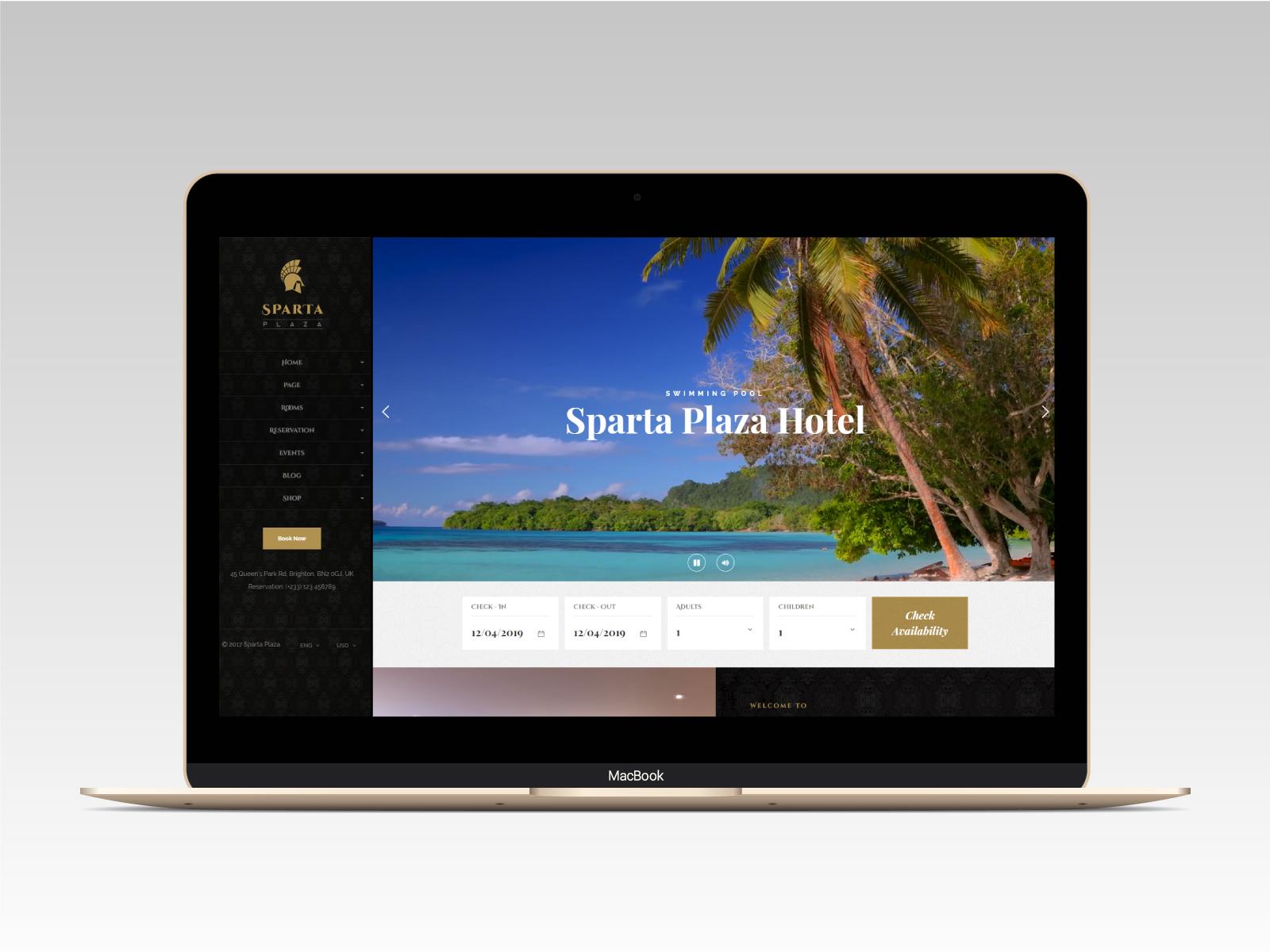Sparta   Hotel & Resort HTML5 Template - 10