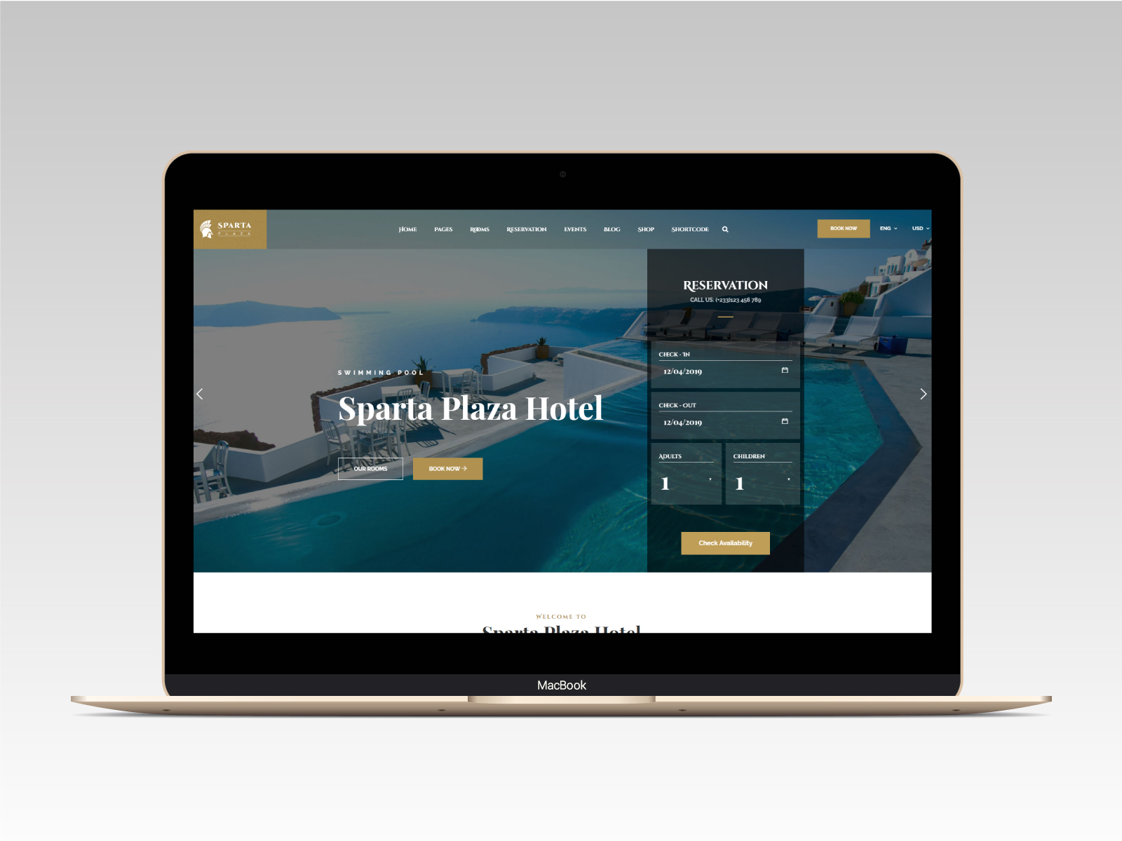 Sparta   Hotel & Resort HTML5 Template - 12